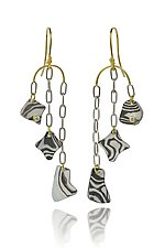 Kancamagus Earrings by Lisa Jane Grant (Gold, Silver, & Stone Earrings)