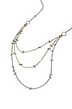 Simple Tri Chain by Lisa Jane Grant (Gold & Silver Necklace)