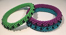 Bead Crochet Bangles by Sher Berman (Beaded Bracelet)