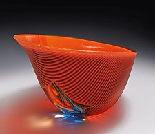 Sunset Vessel by Helen Rudy  (Art Glass Vessel)
