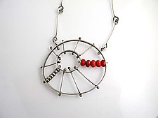 Large Burst Pendant with Carnelian by Erica Stankwytch Bailey (Silver & Stone Necklace)