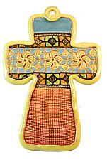 Stained Glass Band by Laurie Pollpeter Eskenazi (Ceramic Wall Sculpture)