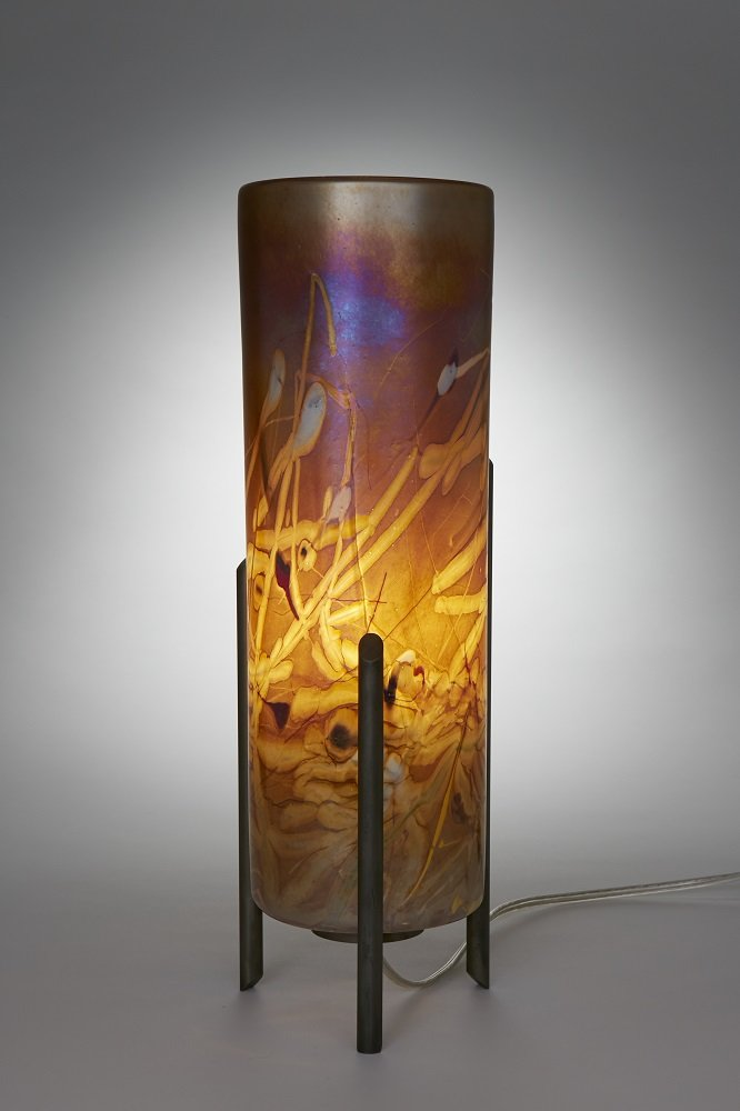 Tricil By Joel And Candace Bless Art Glass Table Lamp