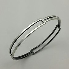Box Bangle by Hilary Hachey (Silver Bracelet)