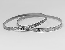 Rivet Bangle by Hilary Hachey (Silver Bracelet)
