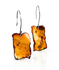 Ejecta Dangle by Lisa LeMair (Enameled Earrings)