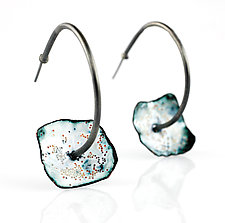 Ejecta Hoop by Lisa LeMair (Enameled Earrings)
