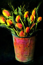 Country Tulips by Dar Spain (Hand-Colored Photograph)