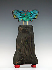 Standing Moth by Mansfield and Collins (Mixed-Media Sculpture)