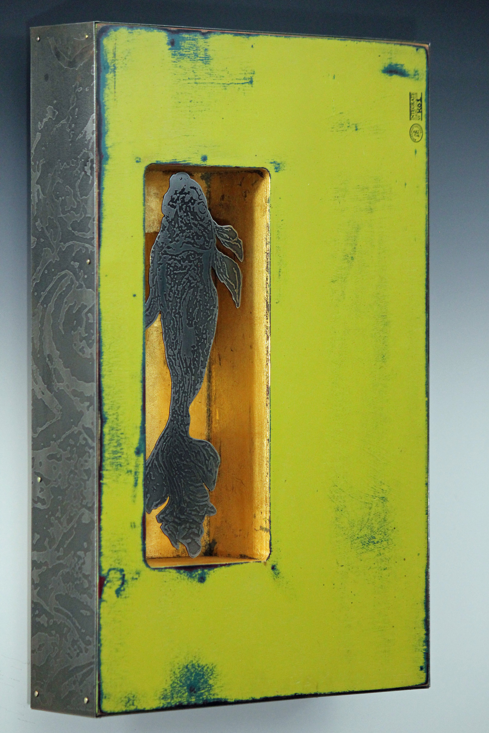 Coy Koi By Mansfield And Collins Mixed Media Wall