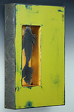Coy Koi by Mansfield and Collins (Mixed-Media Wall Sculpture)