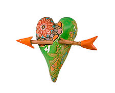 Delia by Laurie Pollpeter Eskenazi (Ceramic Wall Sculpture)