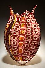 Scarlet Foglio by David Patchen (Art Glass Vase)