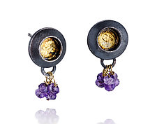 Keum-Bo Studs by Shauna Burke (Gold, Silver & Stone Earrings)