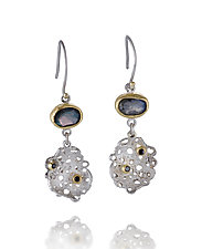 Silver Scribble Dangles by Shauna Burke (Gold, Silver & Stone Earrings)