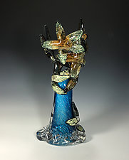 Starfish Wave by John Gibbons (Art Glass Sculpture)