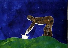 Man and Star by Aaron T. Brown (Woodcut Print)
