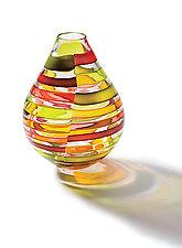 Licorice Stick Genie Bottle by Tracy Glover (Art Glass Vase)