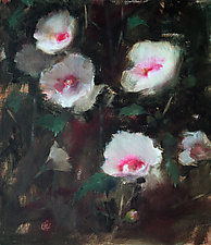 Rose of Sharon by Leslie Dyas (Oil Painting)