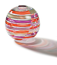 Globe Licorice Stick Vase by Tracy Glover (Art Glass Vase)