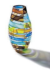Licorice Stick Barrel Vase by Tracy Glover (Art Glass Vase)