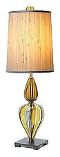 Small Turk Lamp in Kiwi by Tracy Glover (Art Glass Table Lamp)