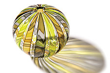 Bocce Budvase in Kiwi by Tracy Glover (Art Glass Vase)