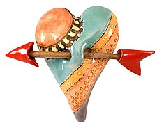 Kelly's Window by Laurie Pollpeter Eskenazi (Ceramic Wall Sculpture)