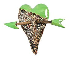 Somebody's Trellis by Laurie Pollpeter Eskenazi (Ceramic Wall Sculpture)