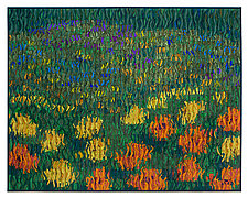 Wild Flower Meadow by Tim Harding (Fiber Wall Art)