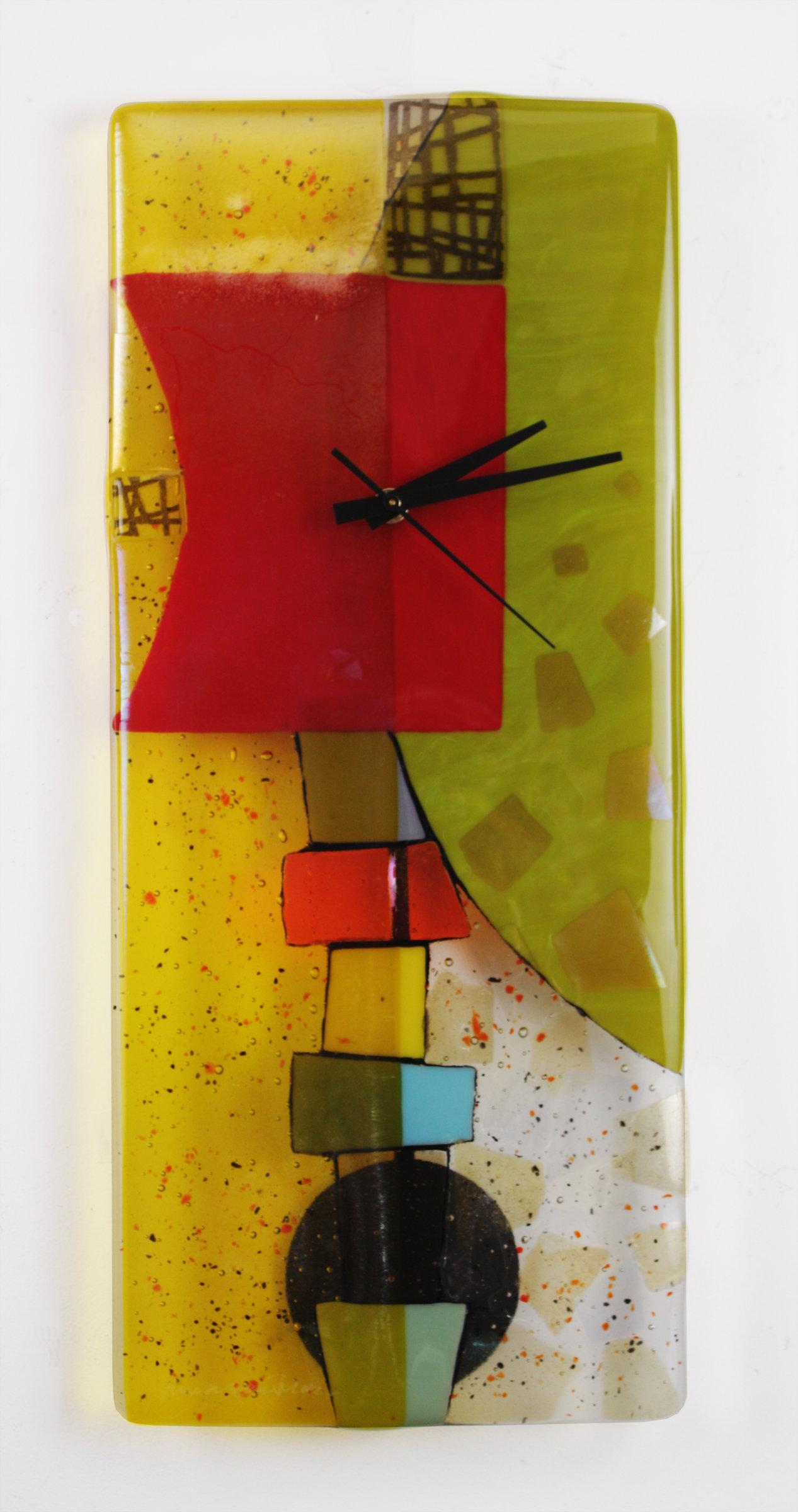Sophia Art Glass Clock by Nina Cambron (Art Glass Clock) | Artful Home