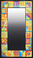 Tiled Mirror by Rod  Hemming (Ceramic Mirror)