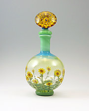 Sunflowers by Chris Pantos (Art Glass Perfume Bottle)