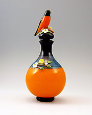 Oriole Perfume by Chris Pantos (Art Glass Perfume Bottle)
