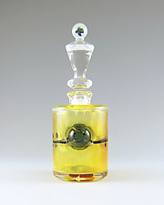 Sea Turtle Bottle by Chris Pantos (Art Glass Perfume Bottle)