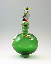 Mallard Bottle by Chris Pantos (Art Glass Perfume Bottle)