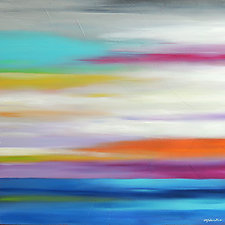 Color in the Sky #8 by Mary Johnston (Oil Painting)