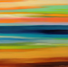 Striations# 5 by Mary Johnston (Oil Painting)