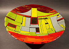 It Takes a Village I by Vicky Kokolski and Meg Branzetti (Art Glass Bowl)