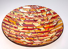 Striped Bowl by Varda Avnisan (Art Glass Bowl)