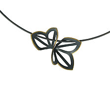 Anise Fold Necklace with Gold Edge by Karin Jacobson (Gold & Silver Necklace)