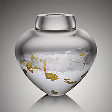 Thaw Emperor Bowl by Randi Solin (Art Glass Vessel)