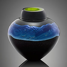 Black Nebula by Randi Solin (Art Glass Vessel)