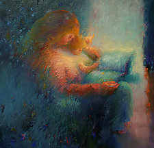Bedtime Story by Cathy Locke (Oil Painting)