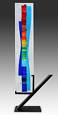 Rainbow Waterfall by Alicia Kelemen (Art Glass Sculpture)