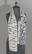 Voile Small Scarf by Uosis Juodvalkis  and Jacquie Rice  (Wool Scarf)