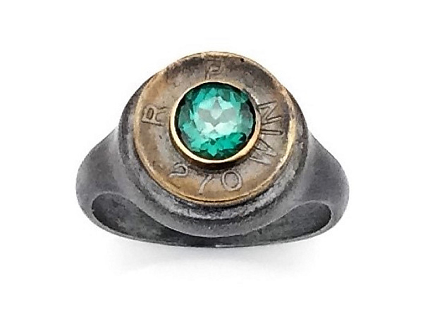 Peace Fire Green Topaz Ring