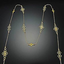 Long Filigree Chain by Ananda Khalsa (Gold Necklace)
