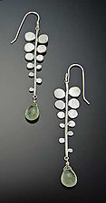 Fern Earrings by Ananda Khalsa (Silver & Stone Earrings)