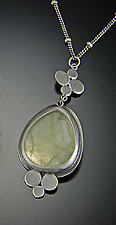 Prehnite Medium Multi Disk Necklace by Ananda Khalsa (Silver & Stone Necklace)